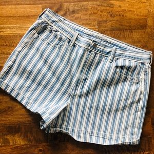 American Eagle Railroad Striped Shorts Sz 14 & 16